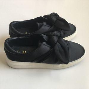 Shellys London Edgar Satin Bow Platform Sneaker 39